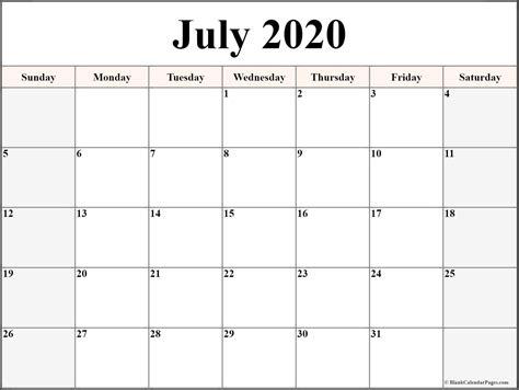 july  calendar  printable monthly calendars
