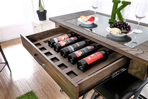 Vegas Storage Bar Table Mullane Industrial Style Counter Collection Las Vegas Furniture Store Modern Home Furniture