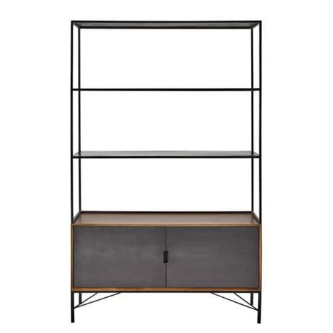metal bookcase in black w 120cm arty maisons du monde