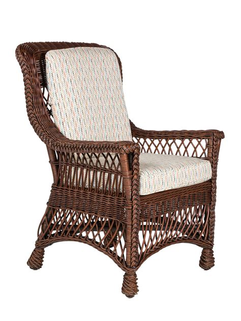 Cottage Dining Chairs Cape Charles Wicker Dining Arm Chair Cottage Home 174