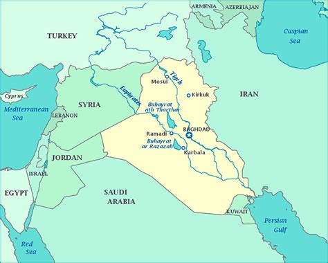 Map Of Syria And Iraq by Map Of Iraq Republic Of Iraq Maps Mapsof Net