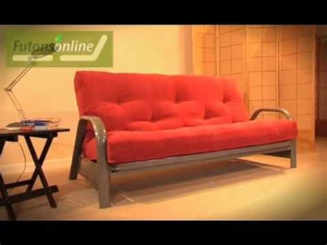 futons online futons online show a 3 seater metal futon sofabed youtube