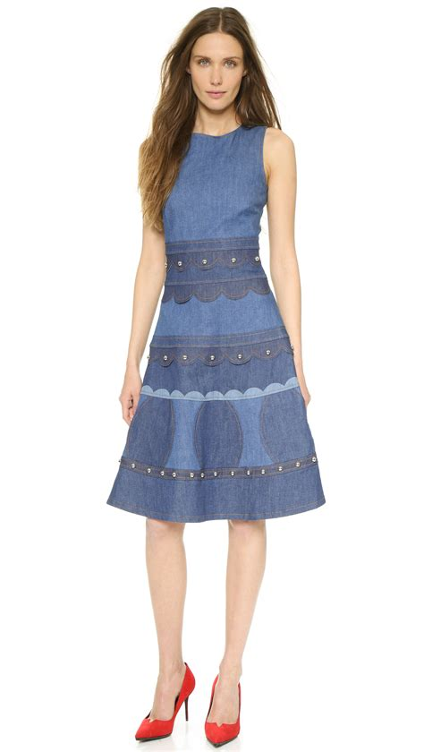 lyst valentino sleeveless denim dress light blue
