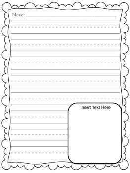 editable writing paper writing paper freebie editable by casey hallett tpt