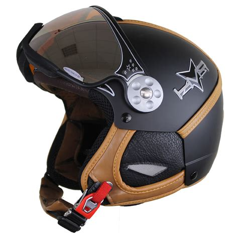 Helm Hmr hmr h2 soft skihelm black leather brown 2015 sport vision