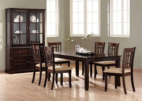 casual dining room tables deep cappuccino finish casual dining room table w options