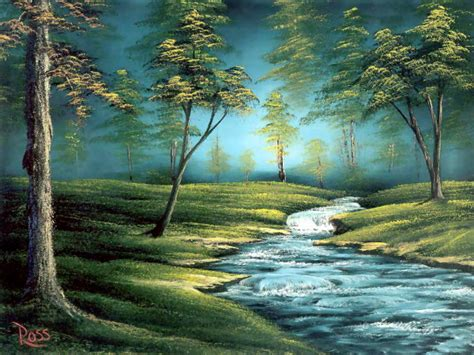 bob ross landscape painting colorful landscape paintings by bob ross from america