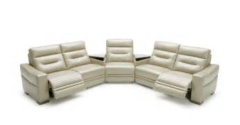 Modern Sofa Recliners Modern Grey Leather Sectional Sofa With Recliners And Consoles