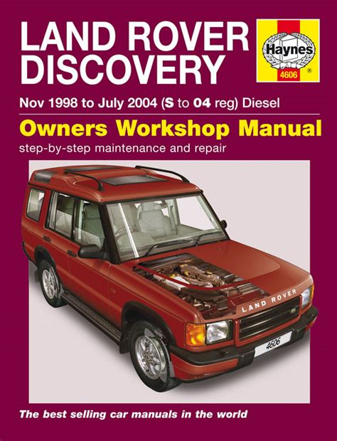 car repair manuals online pdf 1998 land rover discovery parking system haynes manual land rover discovery diesel nov 1998 jul 2004