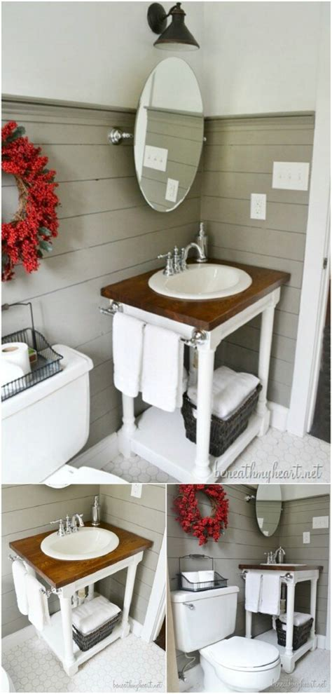 20 cool bathroom decor ideas diy crafts ideas magazine 20 gorgeous diy bathroom vanities to beautify your beauty