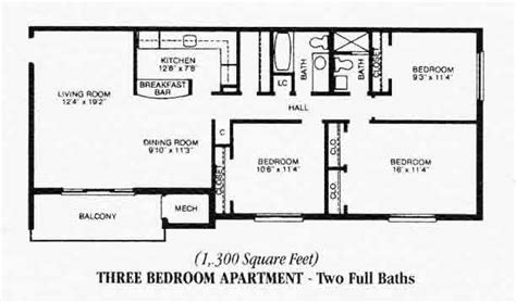 3 bedroom apartments floor plans three bedroom apartments floor s and hewitt gardens