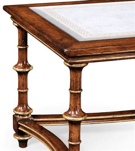 High End Coffee Table High End Furniture Eglomise Glass Coffee Table With Curved Stretcher Gilded Detail On The