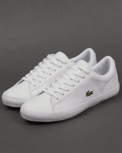 lacoste lerond trainers white white shoes pumps mens