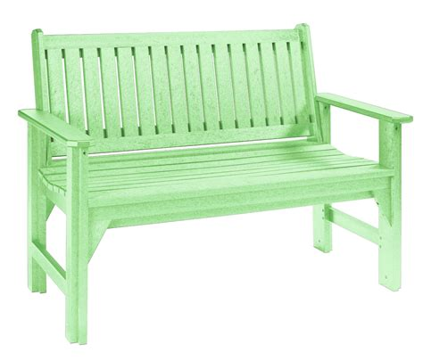 green garden bench generations lime green garden bench from cr plastic b01