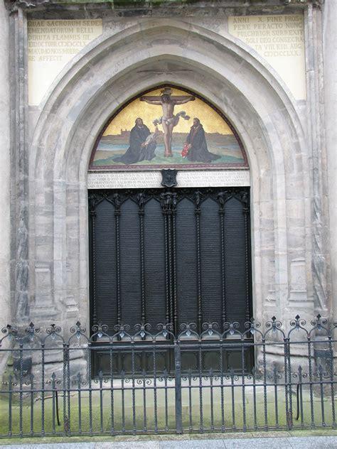 Wittenberg Door by File Wittenberg Thesentuer Schlosskirche Jpg