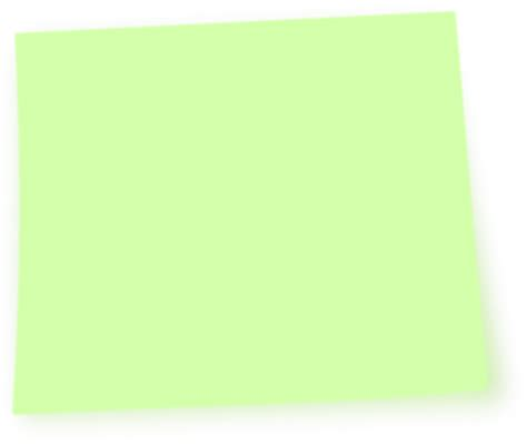 Post It Note Green Clip Green Post It Note Clip At Clker Vector Clip Royalty Free Domain