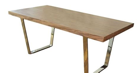 Dining Table Materials Pangea Home Langham Dining Table Sleekly Simple Yet With A Distinctive Mix Of Materials The