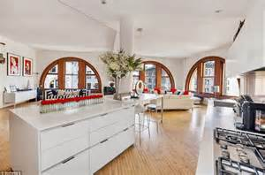 kitchen central island inside billy connolly s 4 7 million fifth avenue loft daily mail