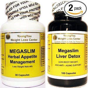 Liver Detox Results by Combo Megaslim Two In One Strength Weight Loss Pills