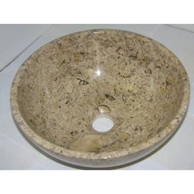 14 inch bathroom sink 14 inch fossil marble bathroom sink vessel style for