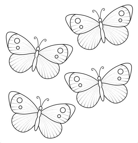 small butterfly coloring pages printable butterfly template 9 free pdf download