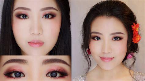 download video tutorial makeup korean style 浪漫新娘妆教程 亚洲新娘妆 巧克力玫瑰金鲜花新娘妆教程 youtube