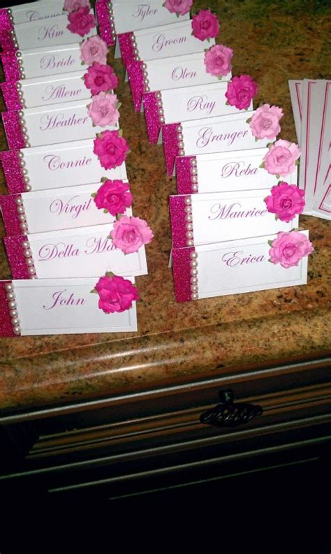 how to diy wedding place cards diy pink placecards weddingbee photo gallery