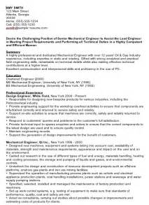 Resume Sle For Mechanical Engineer by Fresh Mechanical Engineer Resume Sales Mechanical Site