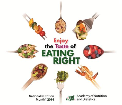 theme for education month 2014 enjoy the taste of eating right during national nutrition