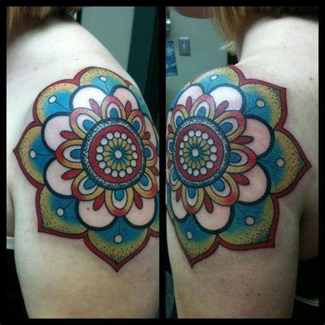 mandala tattoo with colour 38 colored mandala tattoos collection