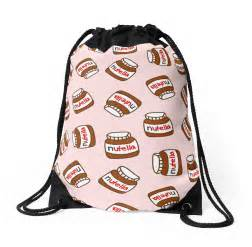 Urban Wall Stickers quot cute tumblr nutella pattern quot drawstring bags by