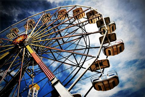 theme park hd ferris wheel full hd wallpaper and background image