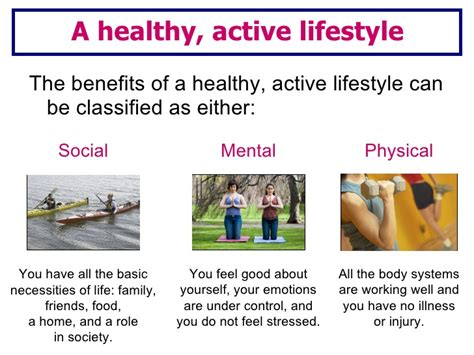 Healthy Active Living Essay by Lesson 2 Social Mental Physical Benefits