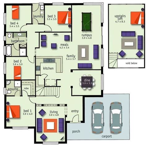 This Week S Floor Plan Friday Is A 4 Bedroom Family Home 4 Bedroom House With Loft House Plans
