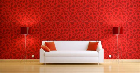 black white and red combination in interior design