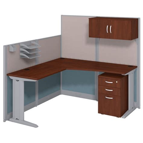 Bush Business Office In An Hour L Shaped Workstation In Bush Bennington L Shaped Desk