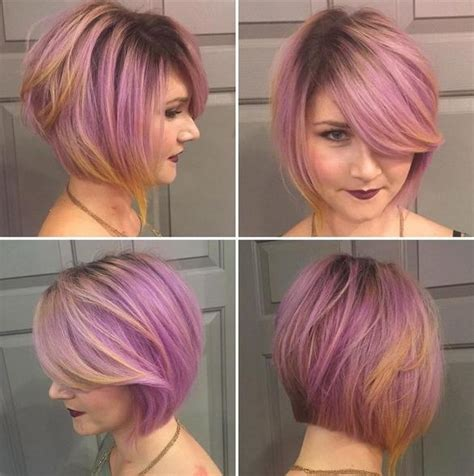 18 beautiful short hairstyles for round faces 2016 bobs 2018 popular short colored bob hairstyles