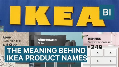 ikea product names the meaning behind ikea product names youtube