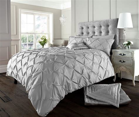 Silver Duvet Cover Alford Button Duvet Set Silver