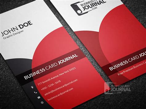 free vertical business card template 55 free creative business card templates designmaz