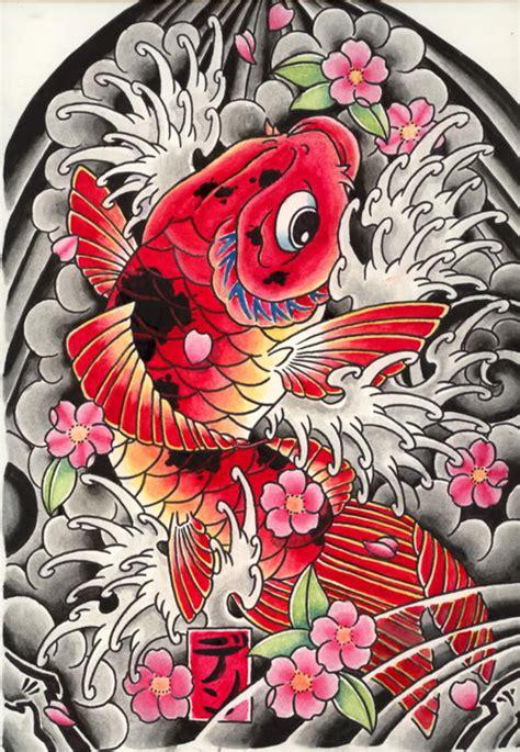 imagenes de tatuajes japoneses y sus significados tatuajes de pez koi dise 241 os y significado parte 3