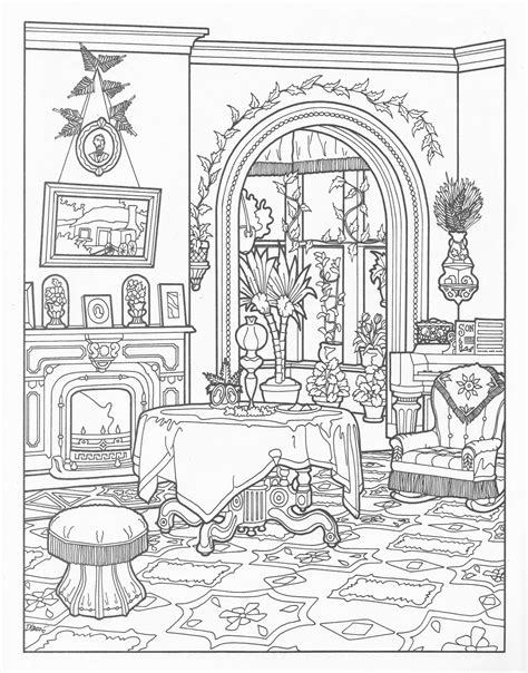 printable coloring pages for adults houses vintage coloring book illustrations helena christine