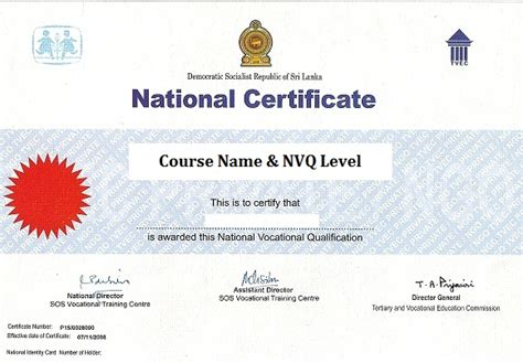 certificate design sri lanka sos vocational training centre training courses sos