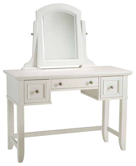 Naples Vanity by Naples White Vanity Table Transitional Bedroom