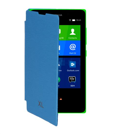 Flip Cover Hp Nokia Xl koloredge flip cover for nokia xl sky blue available at shopclues for rs 155