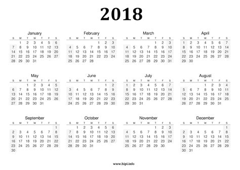 Printable Calendar 2018 Black And White | twitter headers facebook covers wallpapers calendars
