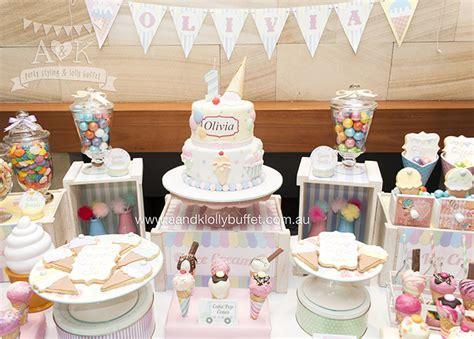 Olivia's Pastel Ice Cream 1st Birthday   A&K Lolly Buffet
