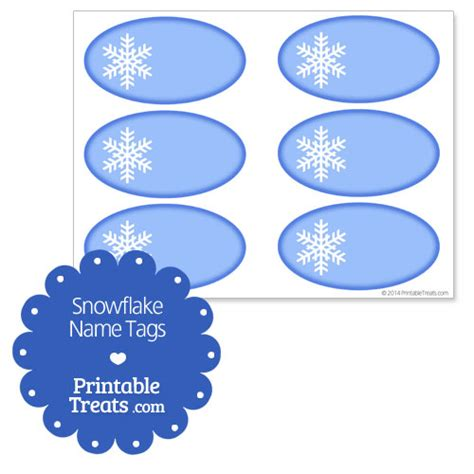 printable snowflake tags 7 best images of snowflake name tags printable free