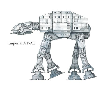 imperial walker coloring pages wars at at imperial walker pen and by sideviewstudio