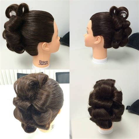 barrel curl ponytaol 3 ponytail updo barrel curls my work cosmetology